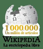 Logotipo de celebración del millón de artículos de la WIkipedia en español