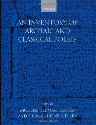 Portada de book An Inventory of Archaic and Classical Poleis