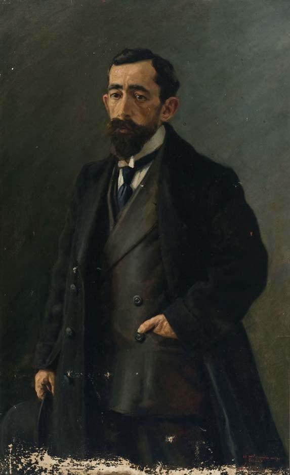 Retrato+al+óleo+de+Eustaquio+Echauri,+obra+de+Javier+Ciga+(1912+aprox.)