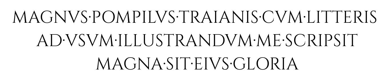 Ejemplo de inscripción con el tipo Cinzel