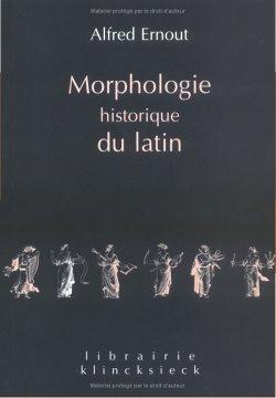 Portada de A. Ernout, Morphologie historique de latin