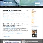Captura de pantalla de la página índice de Chiron