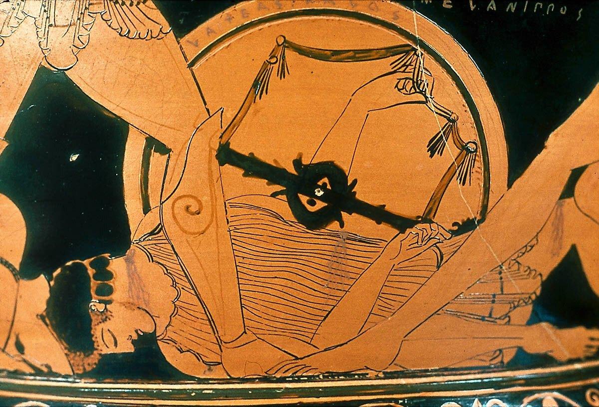 Melanipo muerto a los pies de Aquiles