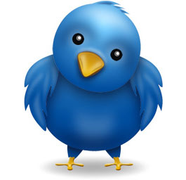 Pájaro del logo de twitter